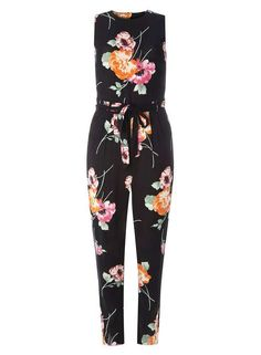 54ad17fd271f Extra Off Coupon So Cheap Dorothy Perkins Floral Print Jumpsuit Black Size  UK 14 rrp 38 HH 07
