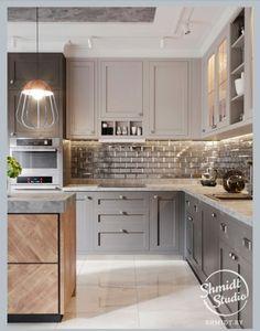 New shabby chic kitchen diner ideas Kitchen Cabinet Design, Shabby Chic Kitchen Decor, Chic Kitchen Decor, Kitchen Remodel, Interior Design Kitchen, Contemporary Kitchen, Home Kitchens, Kitchen Renovation, Kitchen Design