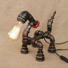 Máquina de tubo de idade Steampunk Cachorrinho E27 Mesa De Luz Iluminação Lâmpada de Mesa Presente | Casa e jardim, Abajures, luminárias e ventiladores de teto, Abajures e luminárias | eBay!