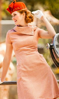 Tigris Fold Over Collar Wool A-Line Dress and Patch Pockets.  This collar on a top so it is breastfeeding friendly.