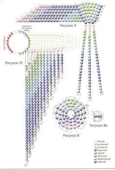 Схема изделия из бисера  Hummingbird pattern WINGS