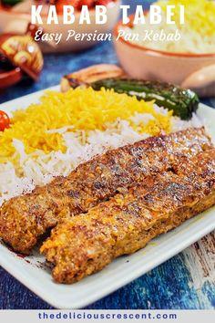 Kabob Recipes, Beef Recipes, Cooking Recipes, Vegetarian Recipes, Easy Lamb Recipes, Ground Lamb Recipes, Rice Recipes, Recipies, Iranian Cuisine