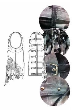 Fashion Sketchbook - fashion drawings & garment details; fashion portfolio // Heidi Kalliokoski