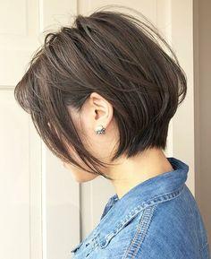 Bobs For Thin Hair, Short Hair With Bangs, Short Hair Cuts, Bob Haircuts For Women, Short Bob Haircuts, Blonde Haircuts, Boy Haircuts, Cool Short Hairstyles, Bob Hairstyles