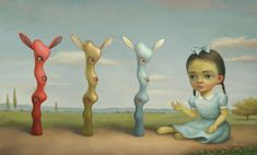 Mark Ryden - one of my all time favorites.  I have a signed first edition book on my shelf.  Love love love him.