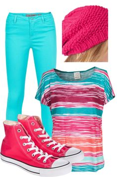 I like everything in this outfit except the shirt. And even though the color is nice i don't like high tops these with out the ankle part would be nice.