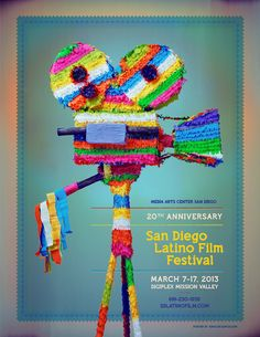 Join Media Arts Center San Diego for the annual San Diego Latino Film Festival (March Watch the latest and best films from all over Latin America, Spain, and U. Featuring Sundance and Cannes film festival winners; Musikfestival Poster, Poster Sport, Poster Cars, Poster Retro, Poster Layout, Design Poster, Typography Poster, Graphic Design, Poster Ideas