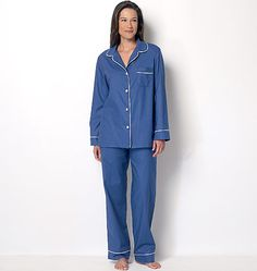 The classic pajama pattern is here! New for Butterick from Lisette. B6296, Misses' Top, Shorts and Pants