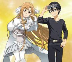 Sao Game, Like A Shooting Star, Kirito Asuna, Sword Art Online Kirito, Rwby Anime, Anime Poses Reference, Anime Comics, Online Art Gallery, Anime Couples