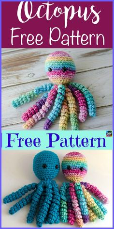 Crochet Patterns For Kids Adorable Crochet Octopus Amigurumi – Free Pattern …This Crochet Octopus Amigurumi Pattern is so adorable, and you will love it! These Octopuses will be a great toy for a baby, and your baby will love it too! Preemie Crochet, Crochet Baby Toys, Cute Crochet, Crochet Dolls, Octopus Crochet Pattern Free, Crochet Octopus, Free Pattern, Crochet Patterns, Knitting Patterns