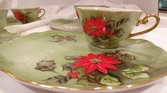 Vintage Lefton China Christmas Holiday Snack Plate by RowlandParkVintage