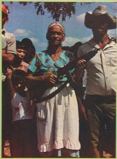 Woman rebel, El Salvador.