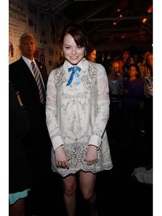 Emma Stone's fashion transformation—Target's Anna Sui collection launch party in 2009.