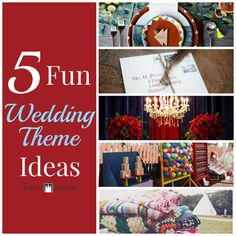 Aw...these wedding theme ideas are refreshingly unique! Love these so much! Click through to the blog to learn about some of the themes, which include: Modern Mexican, Harry Potter, Beauty and the Beast, Rustic Campfire and Carnival. | Wedding Planning | Wedding Ideas | www.templesquare.com/weddings/blog