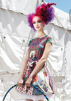 The Emily Disy dress by Desigual, inspired by Cirque du Soleil