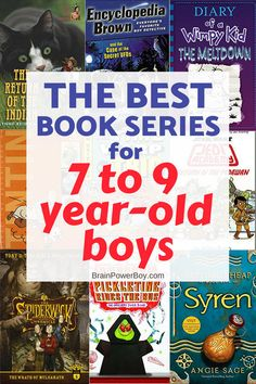 Best book series for 7 to 9 year old boys. Get them hooked on reading these series that they will absolutely love!! Click to see the whole list now. p.s. these make great gifts.