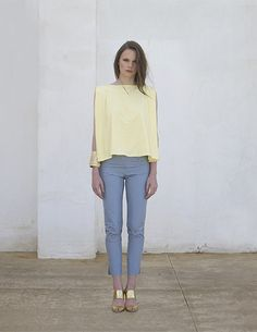 Yellow top designed by Vanina, My Souk In The City