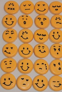 Smiley face cookies by hootowlholler