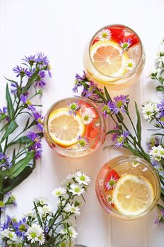 Summer Solstice Sparkling Chamomile Sangria – Arsenic Lace - My CMS The Longest Day, Tea Recipes, Cocktail Recipes, Healthy Recipes, Margarita Recipes, Party Recipes, Drink Recipes, Beltane, Mabon