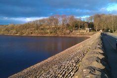 View of Anglezarke Reservoir from Horrobin Lane, Rivington, Horwich, UK