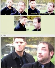 I CAN RELATE! I HATE BEES (some bees, like honey bees and yellow jackets I can deal with, the rest of them.)<<< I like bees, but wasps. Sammy Supernatural, Supernatural Season 9, Supernatural Bloopers, Supernatural Tattoo, Supernatural Imagines, Bitch, Mark Sheppard, Winchester Boys, Funny Love