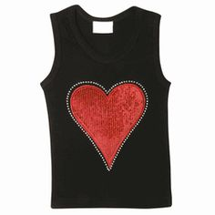 "Is your tot bold and lovable? Yes, so shower her with this awesome Red Sequins Heart Tank Top. She'll adore the attention she gets from onlookers who wonder: ""Who's that girl?"" **A Lollipop Moon exclusive!!"