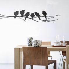 Lovebirds muursticker vogels