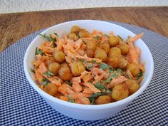 Carrot, Chickpea and Tahini Salad