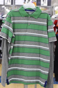 Green Striped Shirt (available only in stores)      Click image to see weekly ad