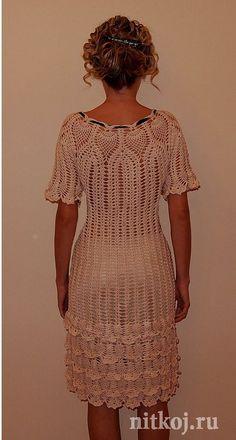 Платья вязанные крючком схемы