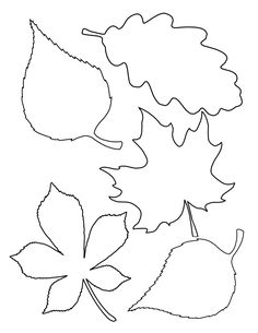 Leaf template # Easy Crafts fall 4 Easy Fall Garlands - A Beautiful Mess Fall Leaf Template, Leaf Template Printable, Printable Leaves, Flower Template, Bookmark Template, Leave Template, Free Printable, Leaf Coloring Page, Free Coloring