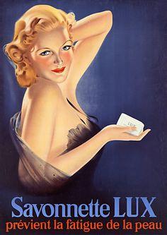 Glamorous 1920s Lux soap print  http://www.vintagevenus.com.au/products/vintage_poster_print-fas711