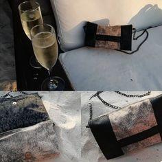 @pegileine sur Instagram: La pochette Cachotin fut l'accessoire parfait pour le réveillon de nouvel an sous le soleil et à la plage. Je participe au défi paillettes…