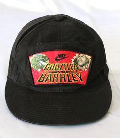 d05dcfc42c4 Vintage 1992 Nike Charles Barkley Vs Godzilla Snapback 90s Basketball Cap  Hat Original TOHO Licensed