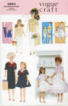 Vogue Barbie and Skipper pattern