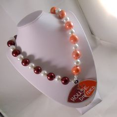 Pearl House Divided Necklace by ScarletRoot on Etsy, $40.00