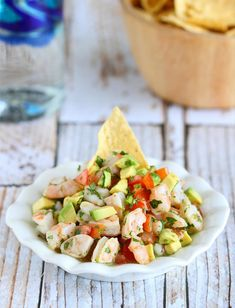 15 Healthy Avocado Recipes - Tequila Spiked Shrimp Ceviche with Avocado Seafood Dishes, Fish And Seafood, Seafood Recipes, Mexican Food Recipes, Cooking Recipes, Mexican Desserts, Freezer Recipes, Dinner Recipes, Freezer Cooking