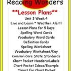 Reading Wonders: Lesson Plans Unit 3 Week 4 Live & Learn: Weather Alert!  My goal with the reading material is to save you valuable time from p...
