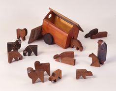 Spielfiguren, Schäfer mit Herde und Karren  [Deutsches Spielzeugmuseum Sonneberg]