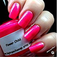 280d3f69086 SALE   13.0 - Neon Pink Nail Polish - Fluorescent - FLOWER CHILD - UV  Reactive