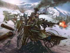 The chaced Picture (2d, fantasy, steampunk, war, soldier, shooting)