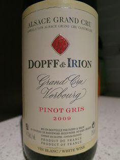 Wine Review: 2009 Dopff & Irion Vorbourg Pinot Gris