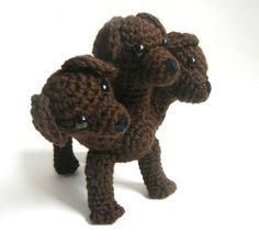 Crochet Pattern: Cerberus or Fluffy the Three Headed Dog from Harry Potter Good dog, eat the mail man and all those nasty bills. Crochet Geek, Crochet Crafts, Crochet Dolls, Yarn Crafts, Knit Crochet, Learn Crochet, Yarn Projects, Knitting Projects, Crochet Projects