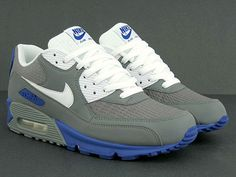 Nike Air Max 90 Cool Grey/Hyper Blue - mashKULTURE