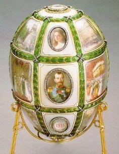 ovo comemorativo do 15º aniversário do reinado de Nicolau II