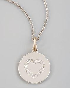9ad952ddaf0d3a KC Designs Diamond Heart Charm $915.00 I Love Jewelry, Charm Jewelry, Disc  Necklace,