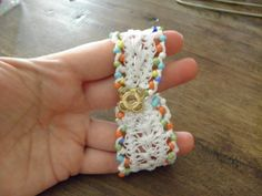 Crochet Symbols, Crochet Patterns, Hairpin Lace Crochet, Diy Home Crafts, Textiles, Diy Tutorial, Hair Pins, Crochet Earrings, Beaded Bracelets