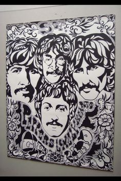 22x28 Black And White Sgt Peppers Poster By Steve Hanks