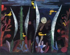 (Paul Klee   1879-1940  Landscape with Yellow Birds   1923  watercolor   27 x 35 in .