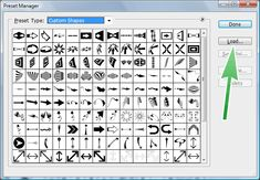 Select the CSH file (Photoshop Custom Shapes) you would like to load